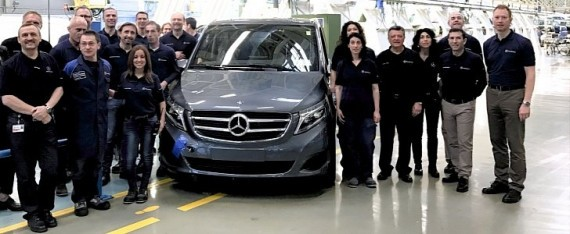 Mercedes benz produces 100 000th v class at vitoria plant for Mercedes benz manufacturing plant in usa