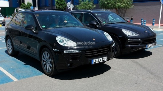 spyshots new images of 2015 porsche cayenne facelift autoevolution. Black Bedroom Furniture Sets. Home Design Ideas