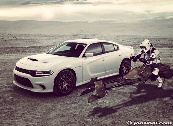 2015 dodge charger srt hellcat rendered as star wars machine