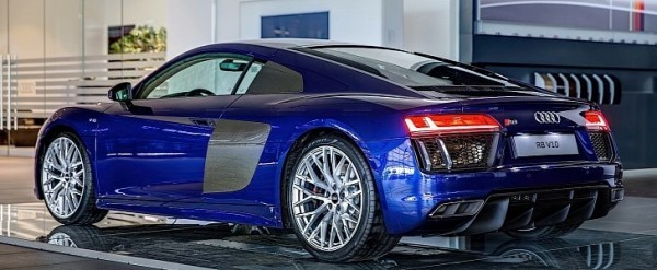 2016 Audi R8 V10 Gets Santorini Blue Paint and Havana Brown Leather - autoevolution