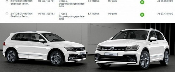 2016 Volkswagen Tiguan Available With 190 Hp 2 0 Tdi From 37 475
