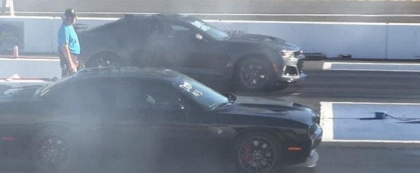 2017 Chevrolet Camaro Zl1 Vs Dodge Challenger Hellcat Drag Race Is A Bummer Autoevolution