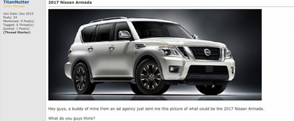 2017 Nissan Armada Is In Fact A Nissan Patrol Y62 Autoevolution