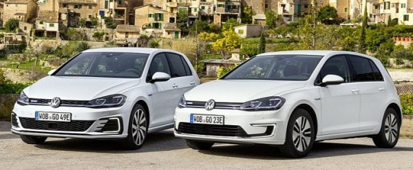 2017 Volkswagen E Golf And Golf Gte Stand Side By Side To Be