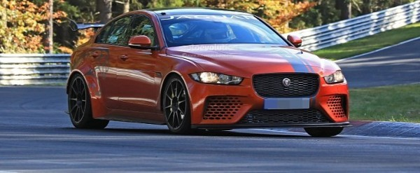 Spyshots 2018 Jaguar Xe Sv Project 8 Attacks Nurburgring With