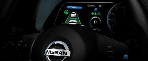 2018 Nissan Leaf Digital Instrument Cluster Teased, ProPilot