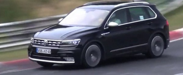 2018 Volkswagen Tiguan R Spied For The First Time At The Nurburgring