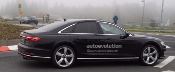 2019 Audi S8 Spied Showing Quad Exhaust System - autoevolution