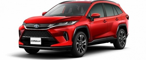 "2022 toyota ""corolla cross"" sport utility vehicle rendered"
