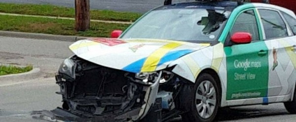 A Google Street View Car Crashes Shows Why Google Wants
