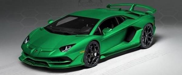 All,Green Lamborghini Aventador SVJ Spec Looks Awesome