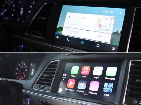 android auto versus apple carplay in tech demo google did it better autoevolution. Black Bedroom Furniture Sets. Home Design Ideas