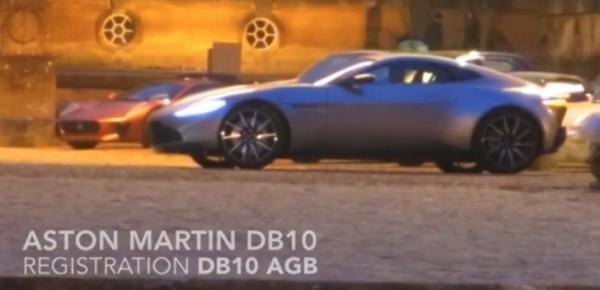 Aston Martin Db10 Filmed On The Set Of James Bond S Upcoming