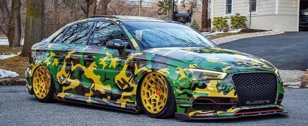 Audi S3 Sedan With Camo Wrap And Radi8 Wheels Looks Ready For