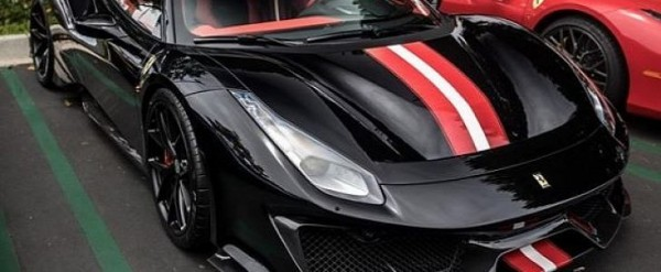 Ferrari Models History Photo Galleries Specs Autoevolution >> Black Ferrari 488 Pista Standout Spec Has Red Wite Strips Inside And