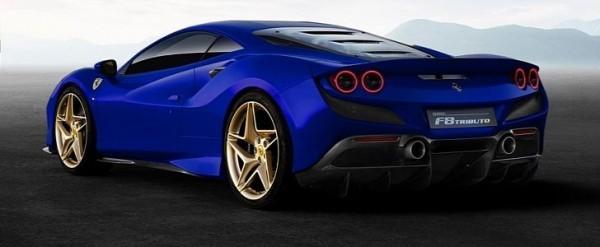 Ferrari Models History Photo Galleries Specs Autoevolution >> Blue Ferrari F8 Tributo With Golden Wheels Shows Lavish Spec