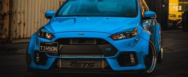 Ford Focus Body Kit >> Blue Ford Focus Rs With Fortune Flares Body Kit Is An Urban