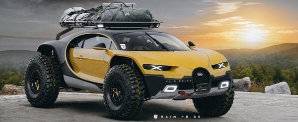 Bugatti Chiron Digitally Turned Into An Off-Road SUV - autoevolution
