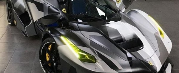 Camouflage Wrap LaFerrari is the World's Fastest Tank ...