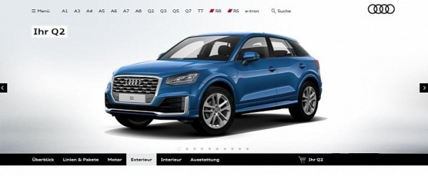 colorful audi q2 configurator launched in germany only 1 4 tfsi and 1 6 tdi autoevolution. Black Bedroom Furniture Sets. Home Design Ideas