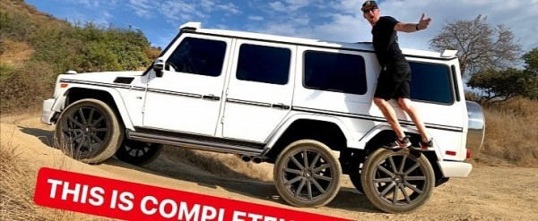 Off Road Wagon >> Fake Mercedes Amg G63 6x6 Wagon Is No Good Gets Stuck