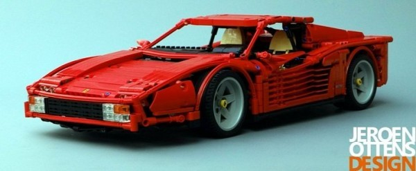 Ferrari Testarossa Lego Vice Looks Amazing Manual Gearbox Works Autoevolution