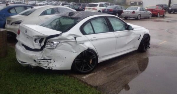 First Photos of Crashed F80 M3s Show Up online - autoevolution