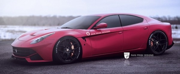 Four,Door Ferrari F12 Rendering Is Ready to One,Up the