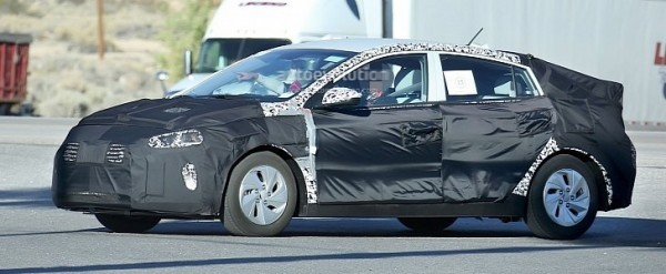 hyundai hybrid test mule spotted again, the prius fighter is real