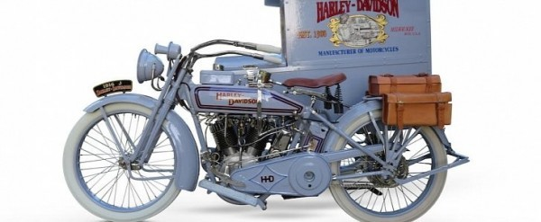 Impeccable 1916 Harley-davidson Model J With Package Truck Is Up For Grabs