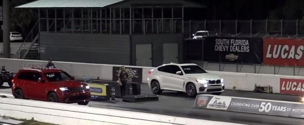 Jeep Grand Cherokee Trackhawk Vs Bmw X6 M Drag Race Is A Bummer Autoevolution