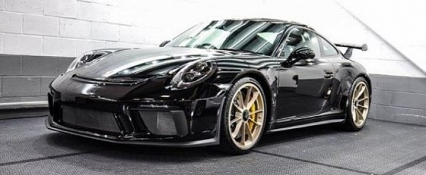 2018 Porsche Boxster Review >> Jet Black 2018 Porsche 911 GT3 with Satin White Gold Wheels Is a Winning Bid - autoevolution