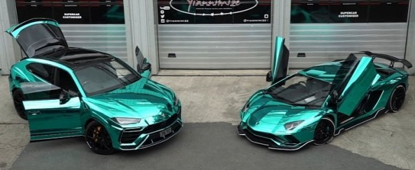 Lamborghini Urus Gets Turquoise Chrome Wrap To Match