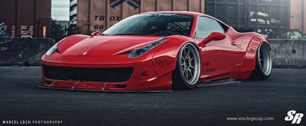 online retailer b808c c7e18 Liberty Walk Ferrari 458 Italia on PUR Wheels: Italian ...