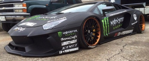 Liberty Walk Lamborghini Aventador With Monster Livery Looks Like