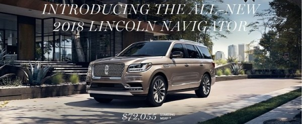 Lincoln Prices 2018 Navigator From 72 055 Autoevolution