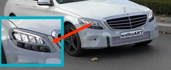 Mercedes C-Class Facelift Finally Shows Interesting LED