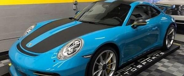 Miami Blue 2018 Porsche 911 GT3 Gets GT2 RS Weissach Package
