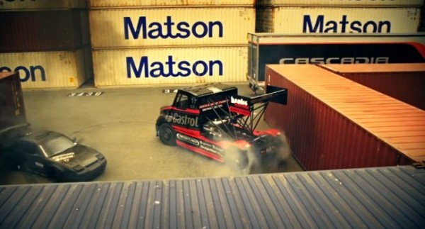 Mike ryan drifts freightliner semi takes gymkhana to the next level autoevolution