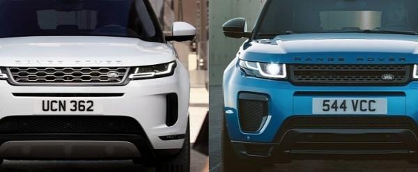 Photo Comparison 2020 Range Rover Evoque Vs 2015 Range