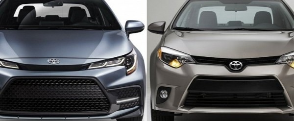 Photo Comparison 2020 Toyota Corolla Sedan Vs 2014