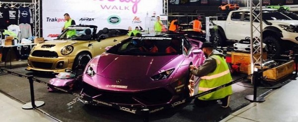 Purple Liberty Walk Huracan Spyder Joined By Gold Widebody Mini