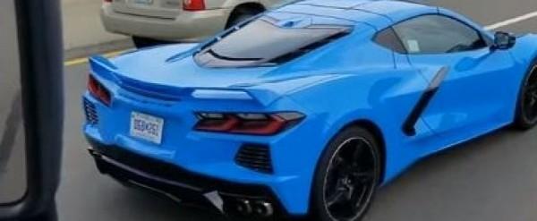 Rapid Blue 2020 Corvette Spotted In Traffic Looks Stunning
