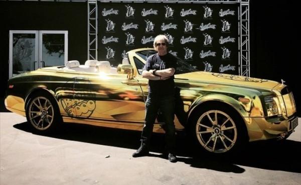 Gold Rolls Royce >> Rolls Royce Phantom Drophead Coupe Gets Chrome Gold
