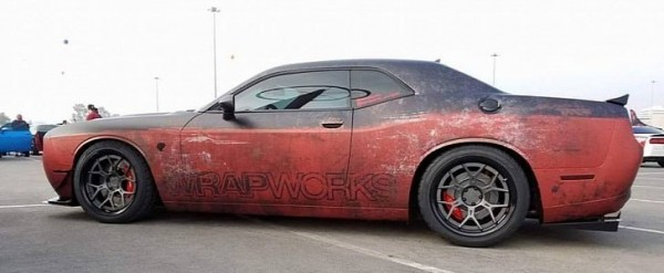 Rusty Wrap Dodge Challenger Hellcat Looks Like A Muscle Beater