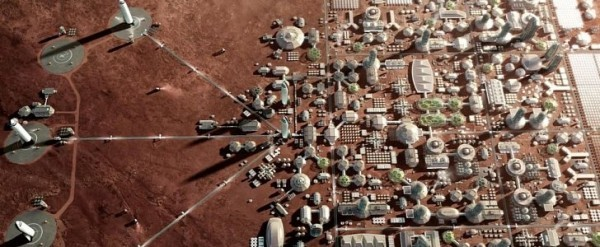 Spacex Martian Colony To Grow Around The Big Falcon Rocket
