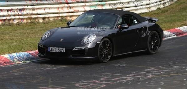 Spyshots 2014 Porsche 911 Turbo Cabriolet Laps The Nurburgring