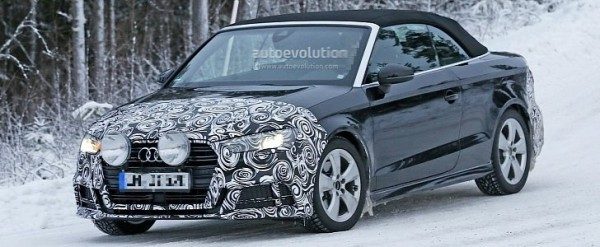 spyshots 2016 audi a3 cabriolet facelift begins winter testing autoevolution. Black Bedroom Furniture Sets. Home Design Ideas