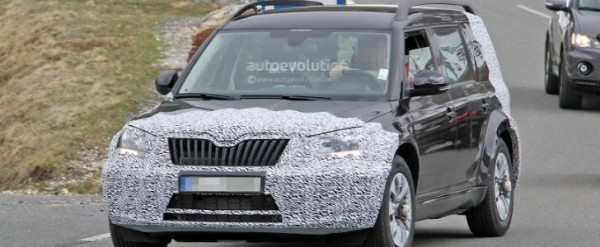 Spyshots 2016 Skoda Snowman 7 Seater Testing In The Alps With