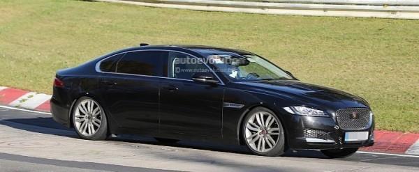 spyshots new jaguar xf long wheelbase caught lapping the nurburgring autoevolution. Black Bedroom Furniture Sets. Home Design Ideas